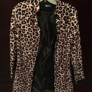 Cheetah Blazer Sz m